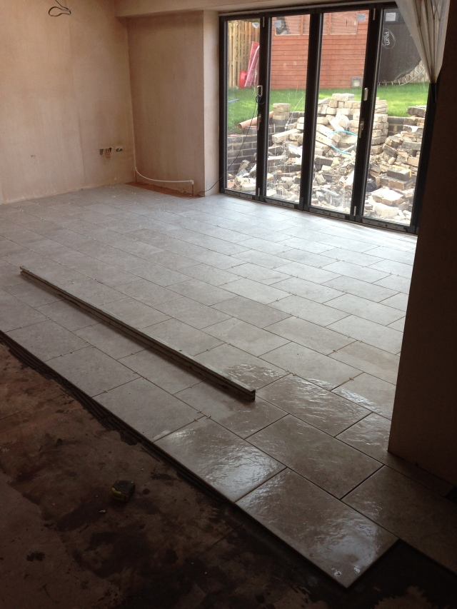 Sun Lounge - tiles going in