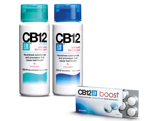 CB12 mouthwash and gum